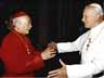 Cardinal Kung and with Pope John Paul II